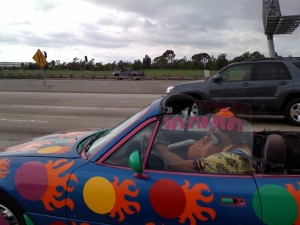 Clowning around on the 405