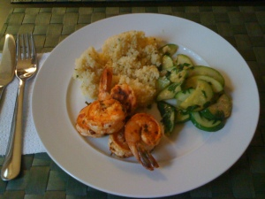 yay food - shrimp and couscous
